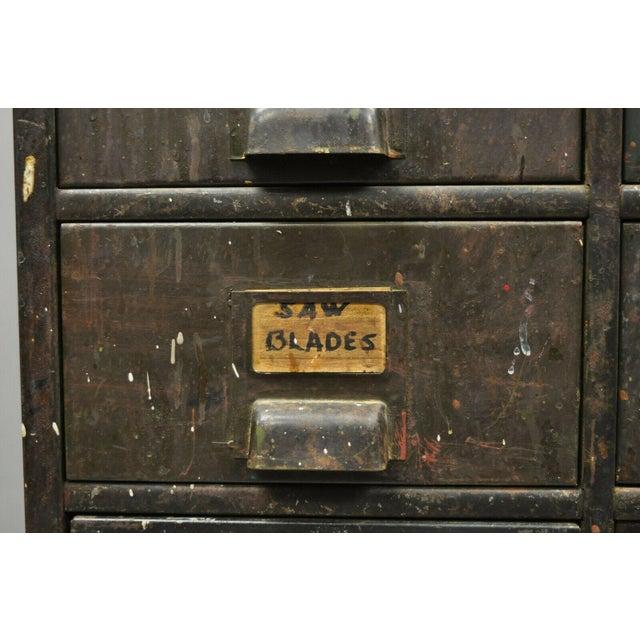 Antique Industrial Cabinet For Sale - Image 4 of 11