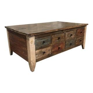 Vintage Style Rustic Coffee Table