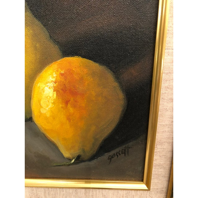 1990s Realistic Still Life Paintings of Pears - a Pair For Sale - Image 5 of 8