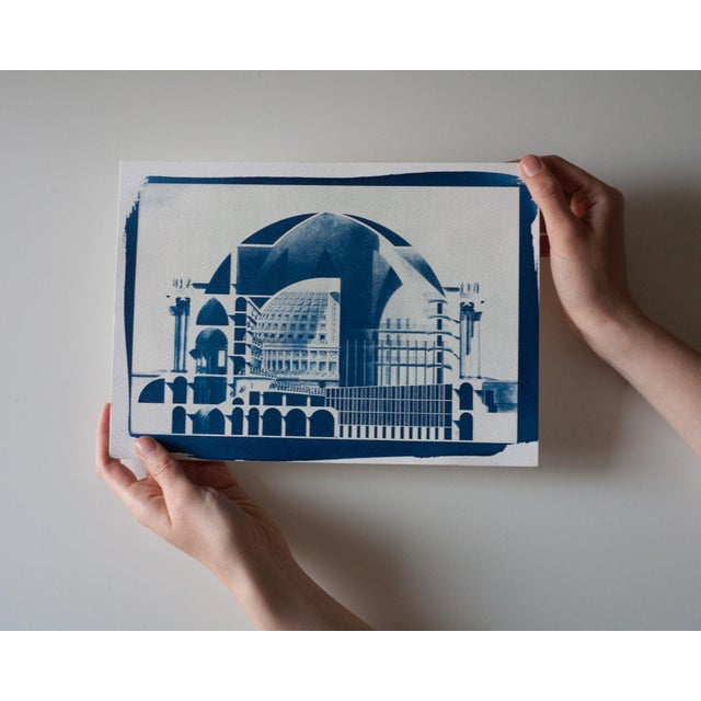 Cyanotype Print - Neoclassical Building - Image 3 of 3