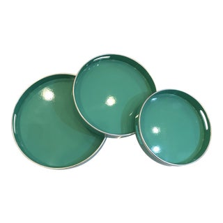 Bungalow 5 Chiffany Round Nesting Trays - Set of 3 For Sale