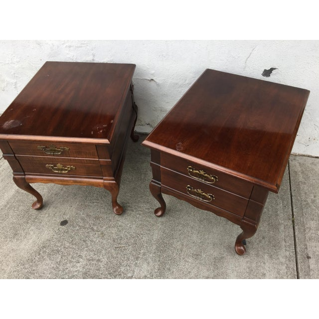 Mersman Queen Anne End Tables - A Pair - Image 3 of 10