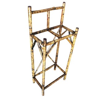 Restored Aesthetic Movement Two Slot Antique Tiger Bamboo Umbrella Stand For Sale