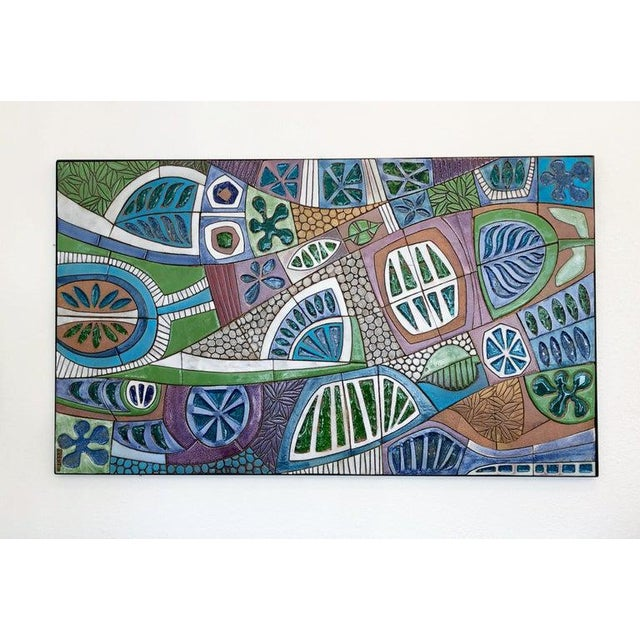 Large Studio Ceramic Wall Relief by Brent Bennett For Sale In Palm Springs - Image 6 of 9