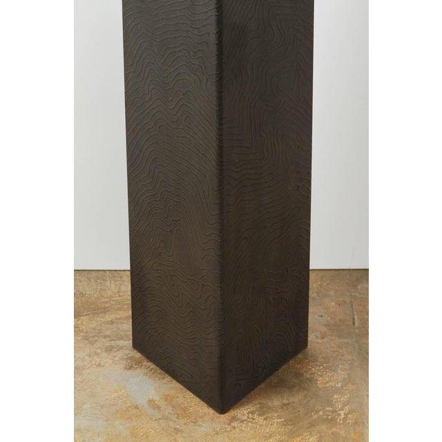 Paul Marra Textured Steel Solitaire Floor Lamp For Sale In Los Angeles - Image 6 of 8