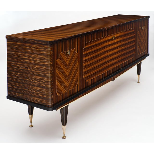 Macassar of Ebony French Vintage Buffet For Sale - Image 4 of 12
