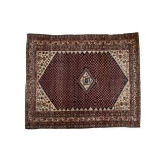 "Vintage Mission Malayer Square Rug - 5'5"" x 6'7"" For Sale"