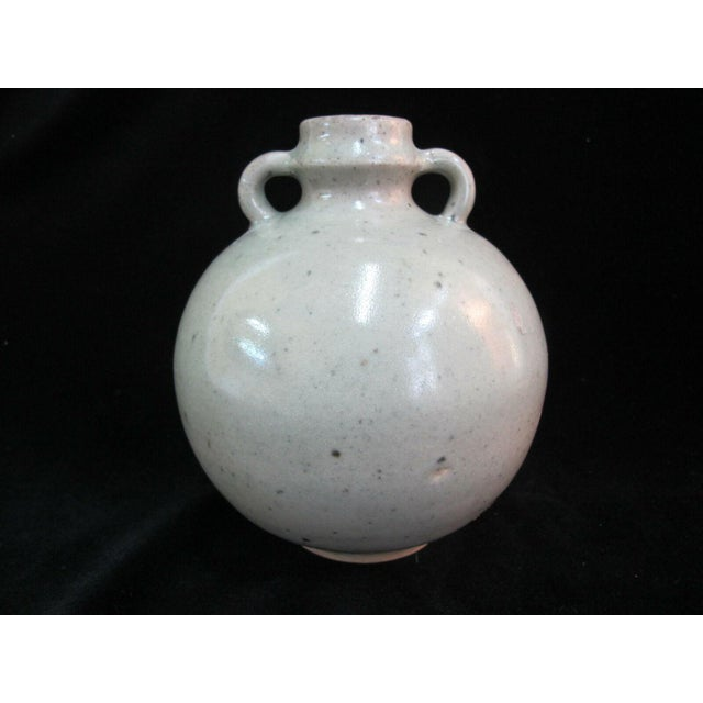 Antique Chinese Celadon Globular Pot With Double Loop Handles For Sale - Image 4 of 7