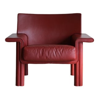 Afra & Tobia Scarpa Leather Lounge Chair For Sale