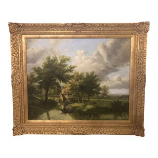 Oil on Canvas Landscape Painting - Signed by N.Bingham For Sale