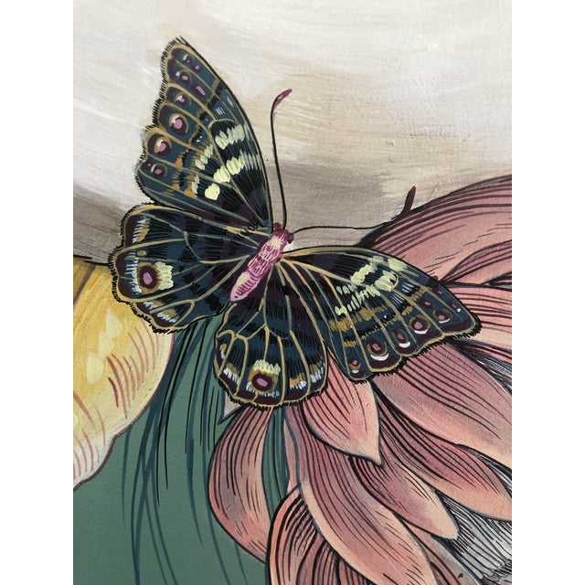 """Contemporary """"The Mane Event"""" Original Acrylic on Wood Painting by Allison Cosmos For Sale - Image 3 of 9"""