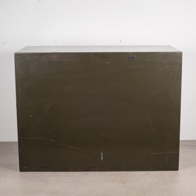 Army Green Industrial Army Green Factory Cabinet C.1940 For Sale - Image 8 of 10