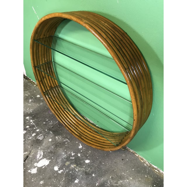Brown Vintage Mid-Century Paul Frankl Eight Strand Rattan Circular Wall Hanging For Sale - Image 8 of 12