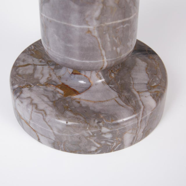 Gray Angelo Mangiarotti Double Sided Marble Vase for Knoll For Sale - Image 8 of 12