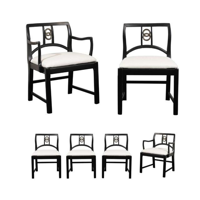Chic Restored Set of 6 Dining Chairs by Baker Furniture, circa 1960 For Sale - Image 13 of 13