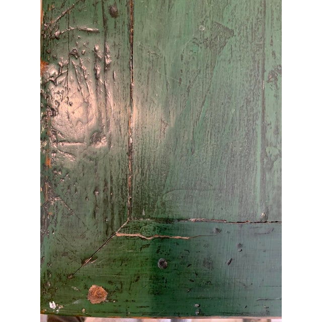 Wood Vintage Asian Console Table in Green For Sale - Image 7 of 12