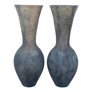 Pair of Terra Cotta /Fiber Glass Entry Pot For Sale