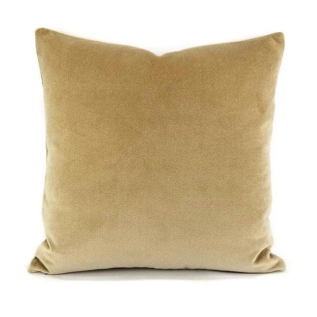 Holly Hunt Aqua Velvet Sand Pillow Cover For Sale - Image 10 of 10