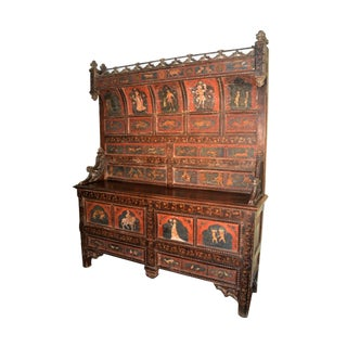 Italian Renaissance Hand Painted Cupboard For Sale
