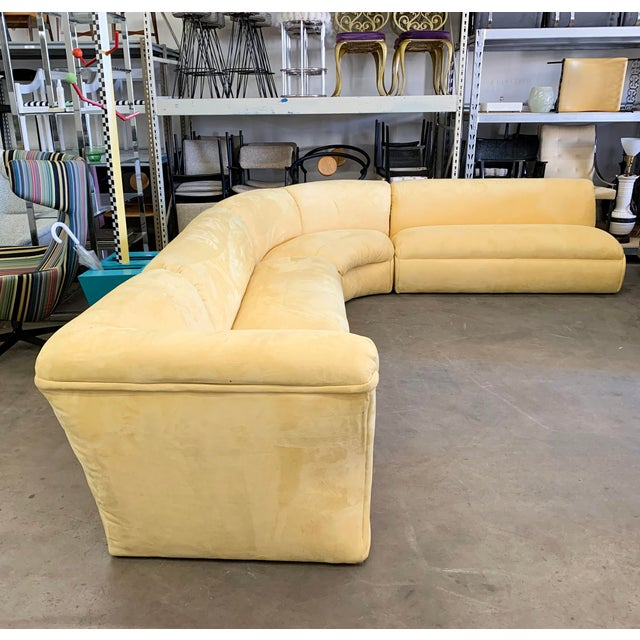 Weiman Preview Large Postmodern 4 Piece Sectional Sofa, 1980's For Sale - Image 4 of 5