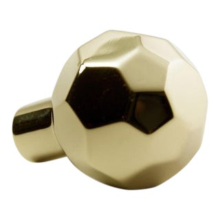 Facet-02L Polished Brass No Lacquer Knob For Sale