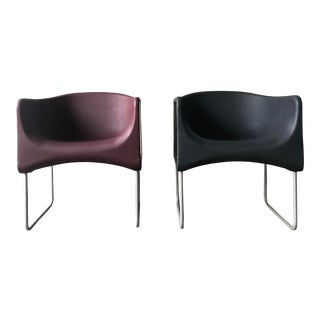 Mid Century Sculptural 'Yu' Chairs by Setsu & Shinobu Ito for Felicerossi - a Pair For Sale