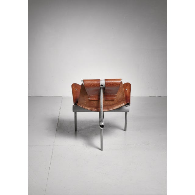 1960s Max Gottschalk prototype leather sling chair, USA, 1960s For Sale - Image 5 of 6