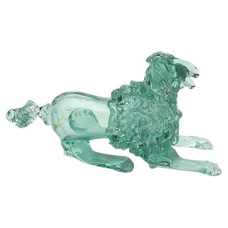 Midcentury Italian Murano Art Glass Poodle Dog For Sale