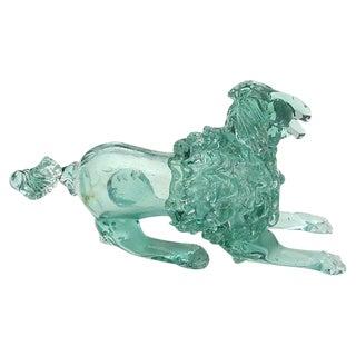 Murano Art Glass Poodle Dog Italian Midcentury For Sale