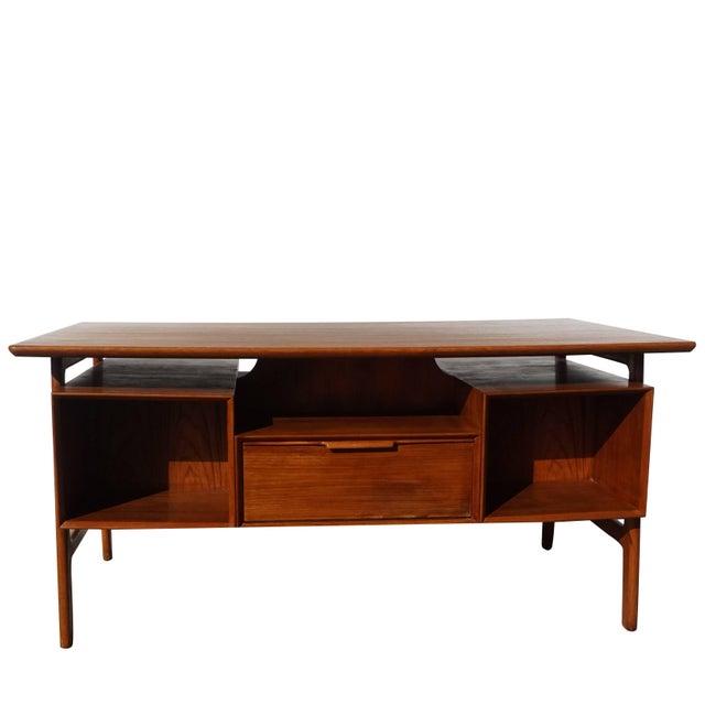 Brown 20th Century Scandinavian Gunni Omann Writing Desk For Sale - Image 8 of 9