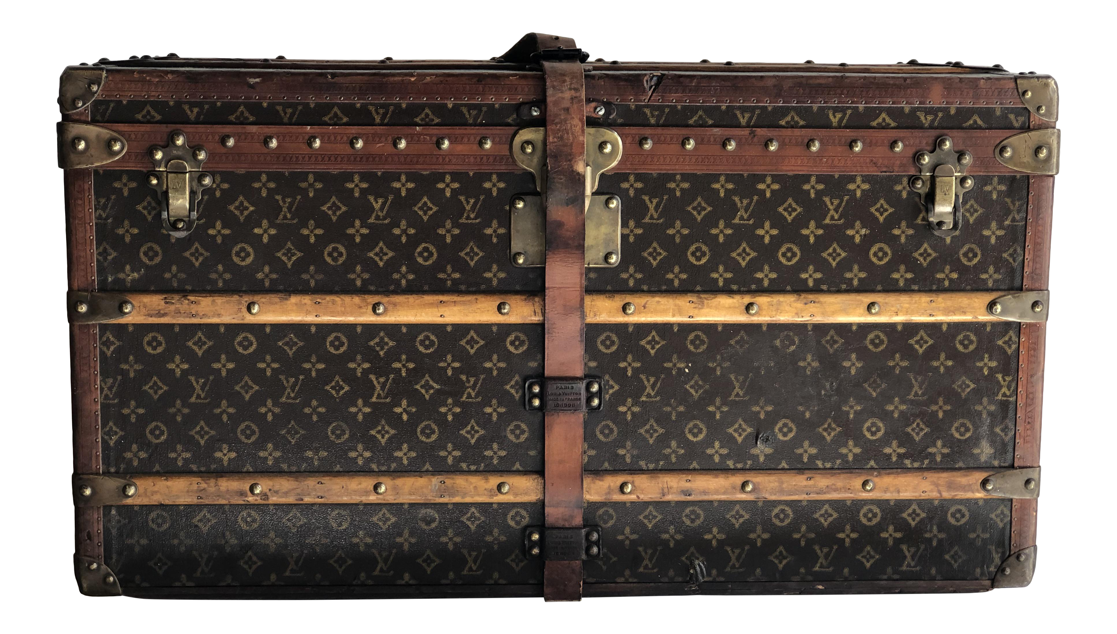 992daedf62c 1920's Vintage Louis Vuitton Trunk With Complete Fitted Interior