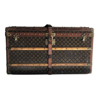 Vintage 20's Louis Vuitton Trunk With Complete Fitted Interior For Sale