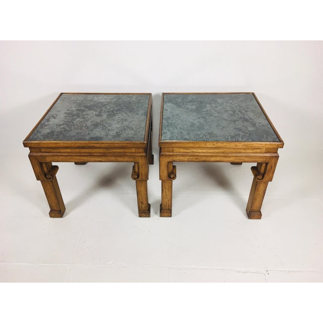 2000 - 2009 Asian Inspired Side Tables – a Pair For Sale - Image 5 of 9
