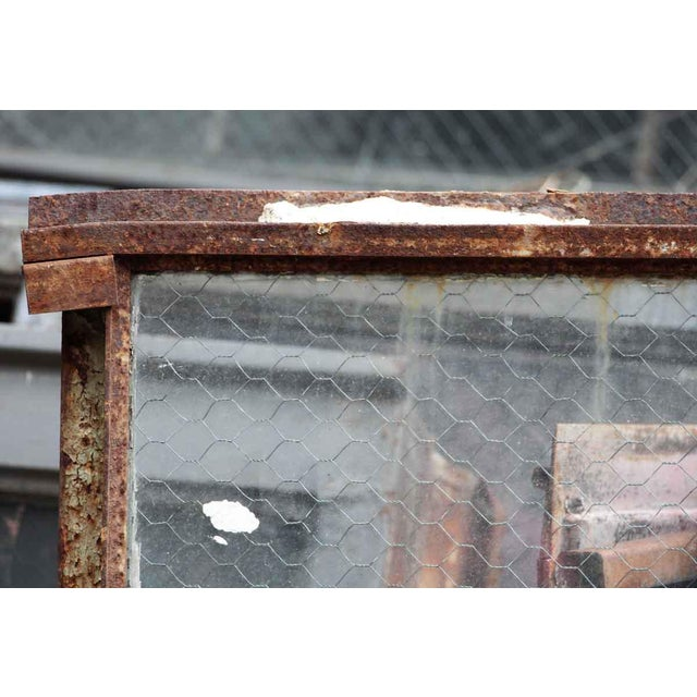 Country Encasement Window Chicken Wire Glass Panels For Sale - Image 3 of 4
