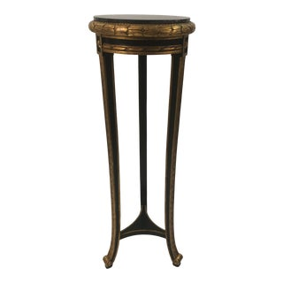 Regency Style Custom Black and Gold Stand For Sale