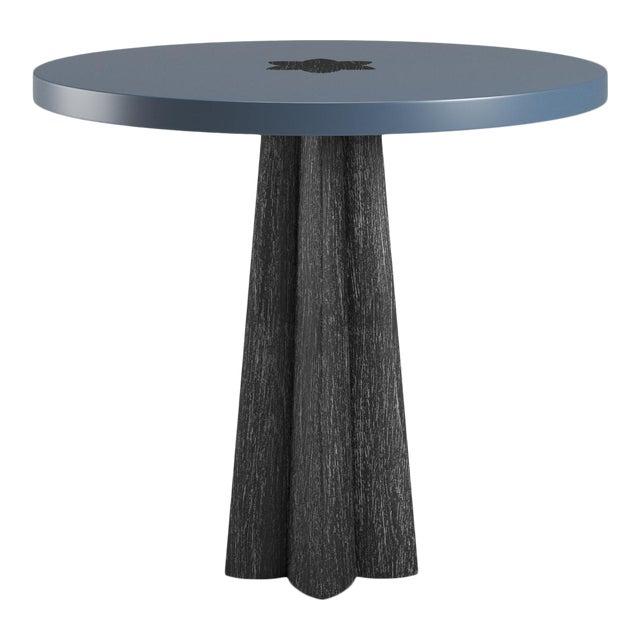 Danielle Side Table - Black Cerused Oak - Newburyport Blue For Sale