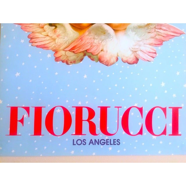 Paper Vintage 1980 Rare Fiorucci New Wave Italian Fashion Iconic Cherub Angels Post Modern Pop Art Poster For Sale - Image 7 of 9