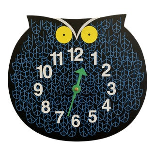 George Nelson Owl Clock For Sale
