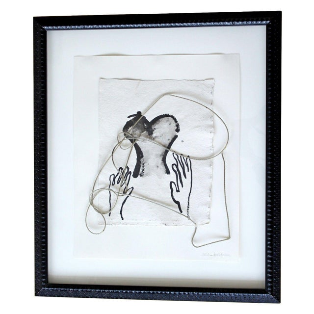 White 2002 Contemporary Framed Mixed Media Painting For Sale - Image 8 of 8