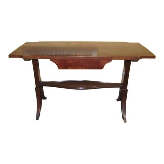 1950s Traditional Wooden Writing Desk For Sale