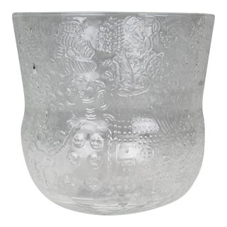 Arabia Finland Fauna Glass Bowl Vase Oiva Toikka Nuutajarvi For Sale