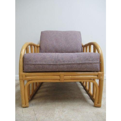 Mid-Century Modern Vintage Ficks Reed Bamboo Rattan Living Room Lounge Chair For Sale - Image 3 of 11