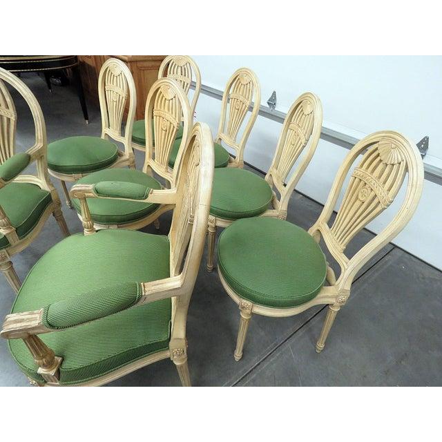 Maison Jansen Vintage Mid Century Maison Jansen Style Dining Chairs- Set of 8 For Sale - Image 4 of 8