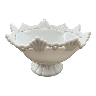 Vintage Milk Glass Compote For Sale