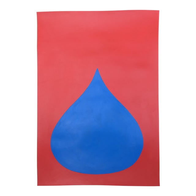 Fat Drop of Superman Blue on Red by Stephanie Henderson - Image 1 of 4