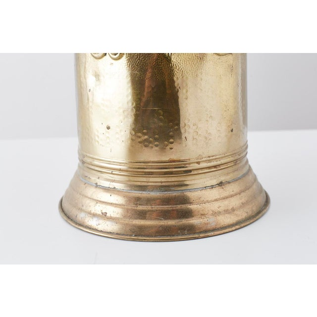 Gold Brass Coat of Arms Umbrella Stand Holder For Sale - Image 8 of 11