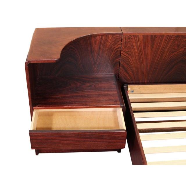 Mid-Century Modern Danish Rosewood King Size Platform Bed For Sale - Image 3 of 11