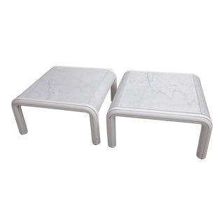 Rare Pair of Marble Coffee or Sofa Tables by Gae Aulenti for Knoll, Italy, 1970s For Sale