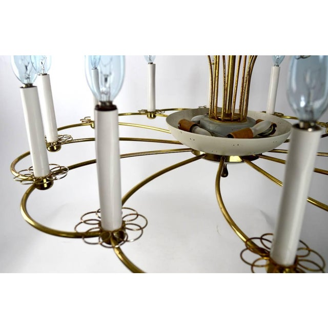 Lightolier Floral Chandelier by Lightolier After Tynell For Sale - Image 4 of 11