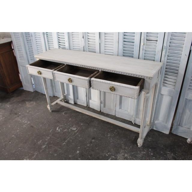 20th Century Vintage French Louis XVI Style Console For Sale - Image 9 of 12